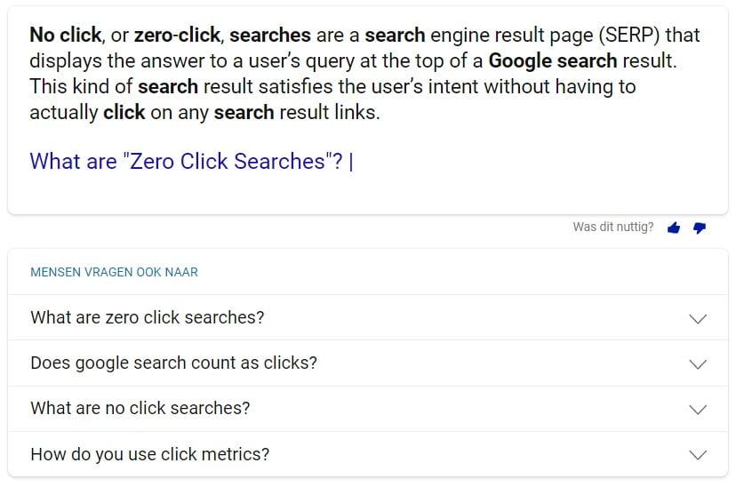 Hoe kan je Zero Click Search beïnvloeden met SEO?
